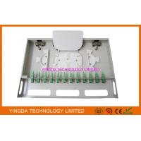 Wholesale 12 Ports Fiber Optic Patch Panel Rack Mount Fiber Patch Panel ODF SC Couplers And Pigtails from china suppliers