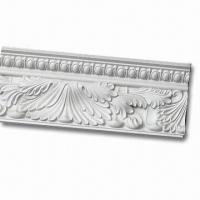 Wholesale Nontoxic PU Carving Chair Rail Molding with Factory-primed and Print from china suppliers
