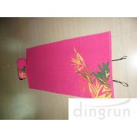 Wholesale 100% Cotton Custom Printed Beach Towels With Inflatable Pillow Concealed Pocket , Shoulder Strap from china suppliers