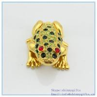 Wholesale Metal alloyed crystal frog shape fancy jewelry gift box  for Jewerly SCJ978 from china suppliers