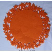 Wholesale Orange Round , Ellipse Nonwoven Fabric Placemats And Coasters Eco-Friendly from china suppliers