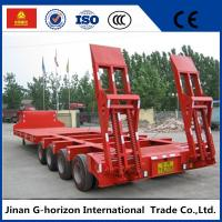 Wholesale 40T 4 Axle Flat Low Bed Semi Trailer / Lowboy Semi Trailer CCC Certification from china suppliers