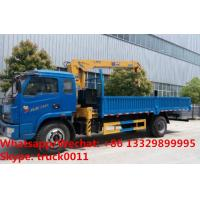 Wholesale Factory sale good price YUEJIN Brand 4*2 LHD 3.2tons telescopic boom mounted on cargo truck, truck with crane for sale from china suppliers