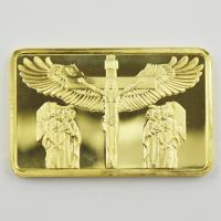 China Best Selling Products 1 OZ 24k Gold Plated Bar Good Friday Jesus&Angel Commemorative Gold Bar Ingot Perfect Christian on sale