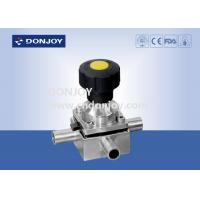 Wholesale SS 316L plastic manual mini three way diaphragm valve with 3 ports, Welded Ends from china suppliers