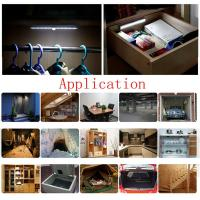Buy cheap super bright led battery operated ir infrared motion sensor night light lamp bar under cabinet light cool white from wholesalers