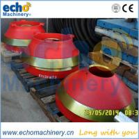 Wholesale Finlay cone crusher casting parts mantle and bowl liner for aggregate from china suppliers