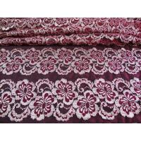 Wholesale Wavy Floral Elastic Lace Fabric Eco-friendly Dyeing For Evening Dress CY-DK0037 from china suppliers