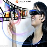 Wholesale MP4 Audio Mobile Theatre Virtual AV Video Glasses , 35 Degree Viewing Angle from china suppliers