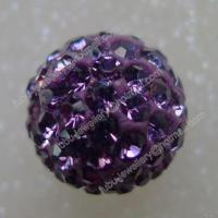 Quality Tanzanite Clay Shamballa Pave Beads In Size 6mm, 8mm, 10mm, 12mm for sale
