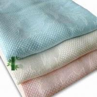 Wholesale Blankets, Made of 100% Bamboo Fiber with Jacquard, Available in Various Colors and Sizes from china suppliers