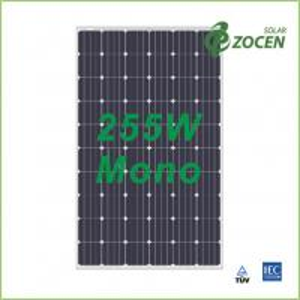 Quality 25 Years Wanrranty , Shading Tolerance , 255W Monocrystalline Solar Panels for sale