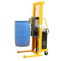 Quality 1.6m Lifting Height Electric Drum Stacker for Loading Steel , Plastic Drums for sale