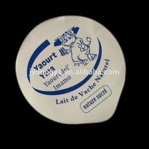 China Factory printed aluminium foil lids for yaourt, yogurt cup sealing lids on sale