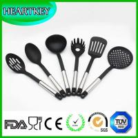 Quality BPA free transparent silicone non-stick kitchen cooking utensils spatula tools set for sale
