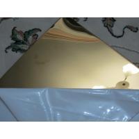 Wholesale Gold color stainless steel sheet mirror finish 304 factory China supplier from china suppliers