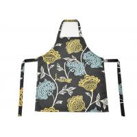 Wholesale Flower Pattern Cotton Kitchen Apron , Women Bib Home Kitchen Apron With Pockets from china suppliers