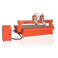 China Double Separate Heads Headstone Engraving Equipment Dust Collection System on sale