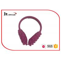 Wholesale Knitted Winter Ear Warmers With Polar Fleece Inner Ear , Ear Muffs For Women from china suppliers