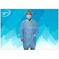Wholesale SMS Disposable Visitor Coats Press Studs Or Velcro Fastening OEM from china suppliers
