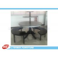 Wholesale 3 shelves MDF boots shoes roud display stand black painted nest table from china suppliers