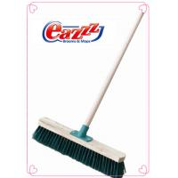 Wholesale PP Screw Garden Sweeping Brooms with Stiff Fiber  Wood Block with 4ft  Wood Handle from china suppliers