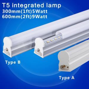 Wholesale PVC Plastic LED Tube T5 Light 220V 240V 30cm 5W 60cm 1ft 2ft 10W LED Fluorescent Tube T5 Wall Lamps Cold White T5 Bulb from china suppliers
