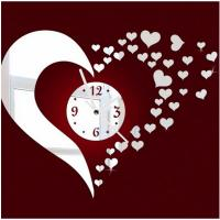 Wholesale Acrylic mirror clock DIY mute clock Custom unique acrylic decorative wall clock lovely from china suppliers