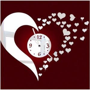 Buy cheap Acrylic mirror clock DIY mute clock Custom unique acrylic decorative wall clock lovely from wholesalers