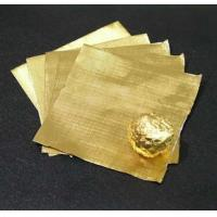 Wholesale Pure chocolate aluminum foil wrappers , gold foil wrapped chocolates Soft Temper from china suppliers
