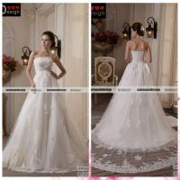 Wholesale Real Sample Magnificent Wedding Gown Lace Applique and Beaded Wedding Dress from china suppliers