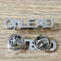 Wholesale Metal hollow monogram lapel pins, China factory hollow letters monogram pin badge from china suppliers