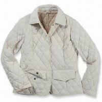 Wholesale Ladies' Quilted Jacket, Made of 100% Polyester Fabric, with Inner Zipped Pocket from china suppliers