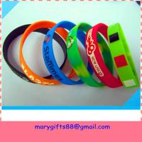 Buy cheap welcome fashion customized silicone rubber wristbands from wholesalers