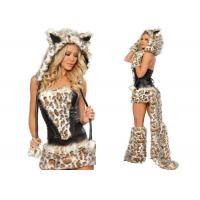 Wholesale Frisky Leopard Woman Sexy  Party Adult Costumes Five Piece For Holiday Carnival from china suppliers