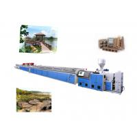 Wholesale High Efficiency WPC Extrusion Line , WPC Floor Profile Making Machine from china suppliers