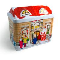 Wholesale Round Christmas Gift Tin Boxes,Metal Tin Box For Candy/Chocolate/Cookies from china suppliers