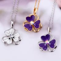 Wholesale Ref No.: 105050 Violet necklace with flower jewellery for women open hearts collection jewelry from china suppliers