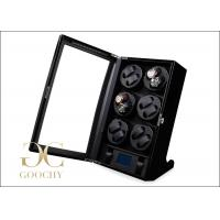 Wholesale Birthday Gifts Black Multiple Watch Winder Box PU Leather For Men from china suppliers
