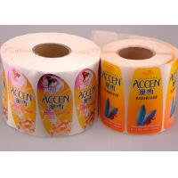 Quality Printed Logo Waterproof Sticker Labels Coated Paper In Roll / Sheet for sale