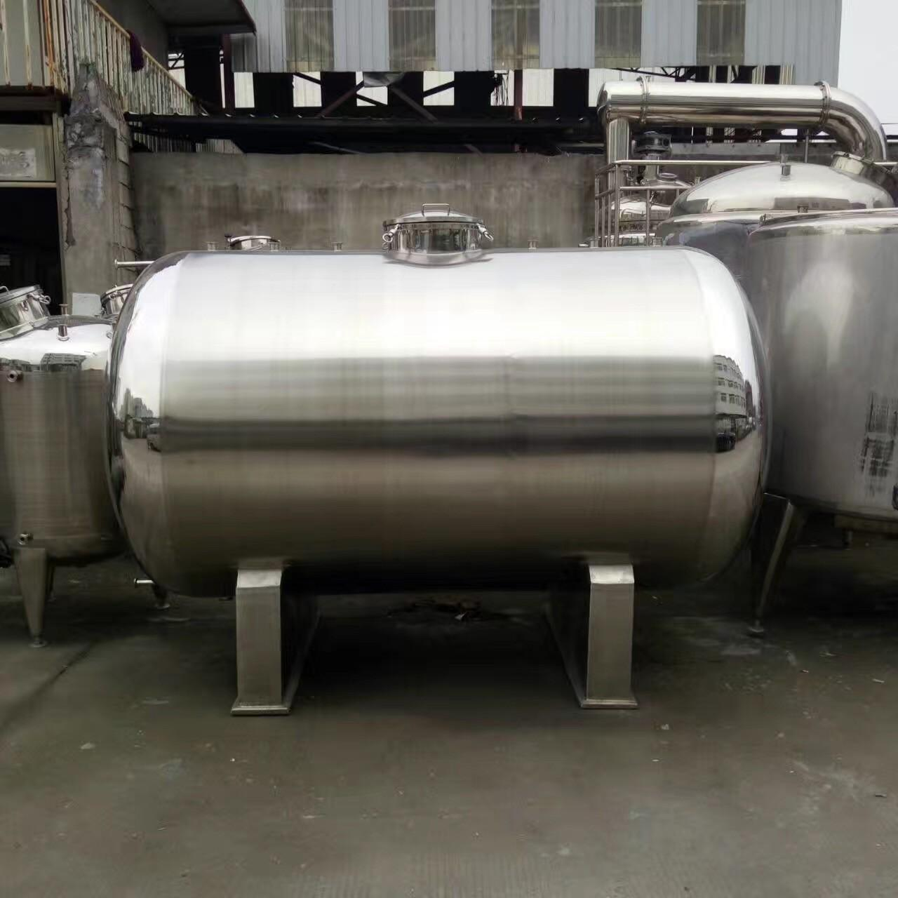 Quality 20000L Big Volume Horizontal Type 304 Stainless steel Storage Tank For Milk Palm Oil Etc Liquid for sale