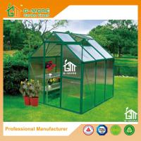 Wholesale 6'x6'x6.7'FT Green Color Single Door Popular Series Aluminum Greenhouse from china suppliers