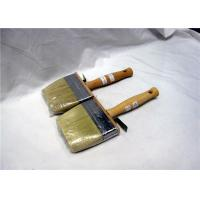 Wholesale White Natural Bristle Paint Brushes For Wall Painting , Flat Paint Brushes from china suppliers
