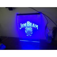 Buy cheap LED Edge-lit Base Jim Beam Neon Light Sign Man Cave Restaurant Pub Bar Bedroom Display from wholesalers