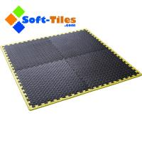 Wholesale Black Foam Floor mat with yellow borders from china suppliers