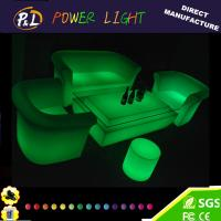 Wholesale Bar Furniture Plastic LED Lounge Sofa Sets from china suppliers