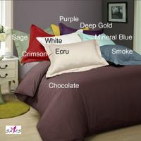 Wholesale Customized Brown Dyed Solid Color Queen Home Microfiber Bedding Set from china suppliers