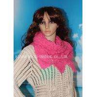 Wholesale Peachblow Corrugated edge hollow out tubbiness shape handmade crochet scarf from china suppliers