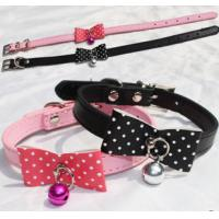 Wholesale Hot-selling Fancy Popular Leather Dog Colloar with Bowknot .Pet collar In special design from china suppliers