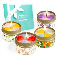 Wholesale Customized Logo Home Scented Candles Home Fragrance Candles Luxury Four Piece Gift Set from china suppliers